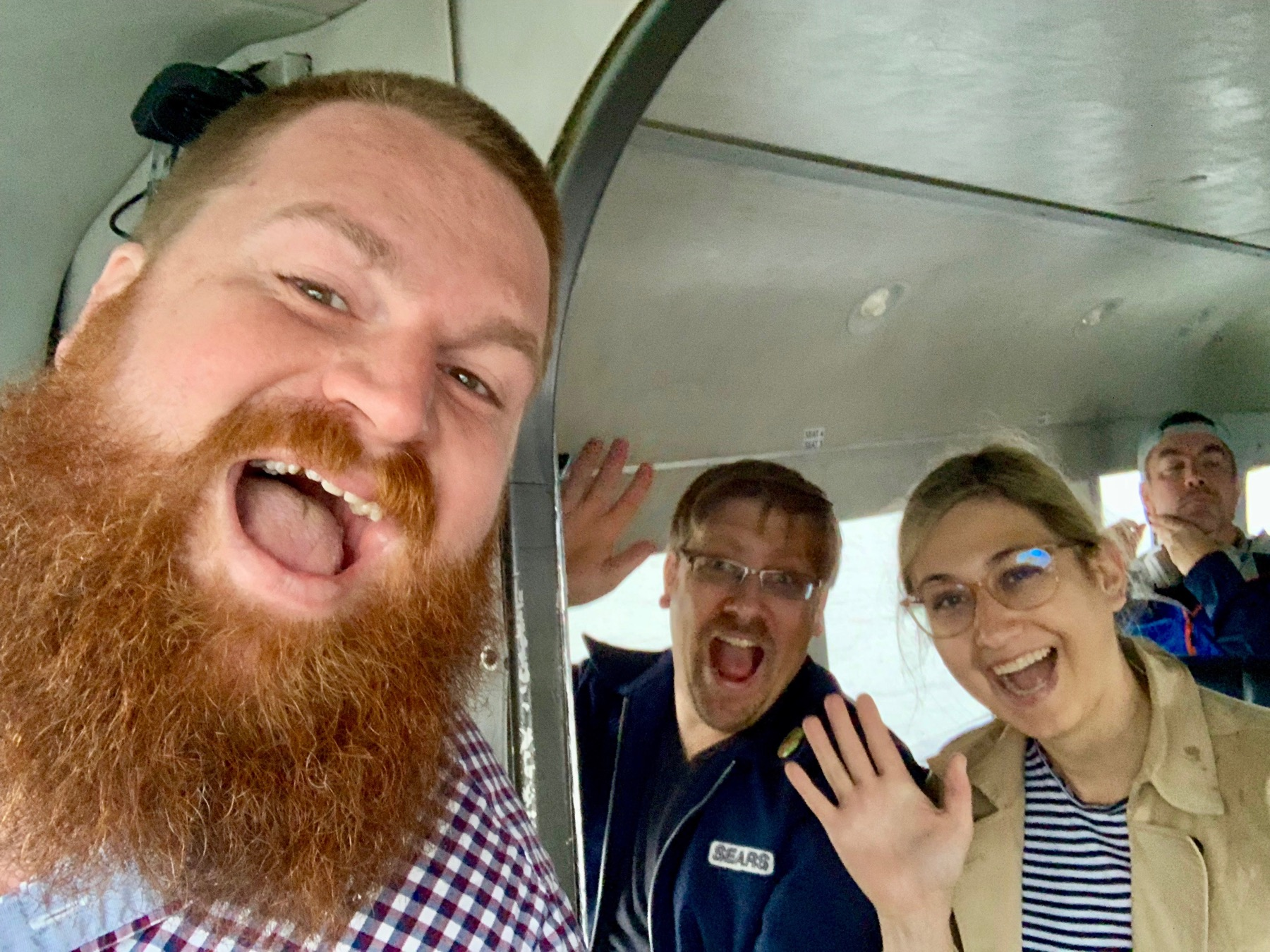 Me, Boris, and Brooklyn on the float plane