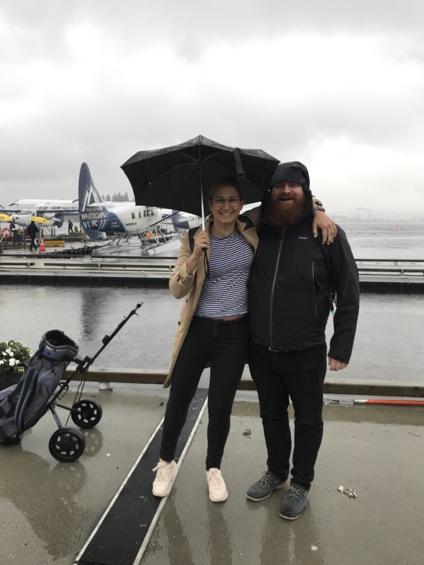 Brooklyn and I about to board the float plane